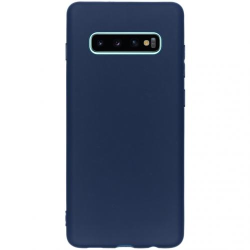 Color Backcover voor de Samsung Galaxy S10 Plus - Donkerblauw