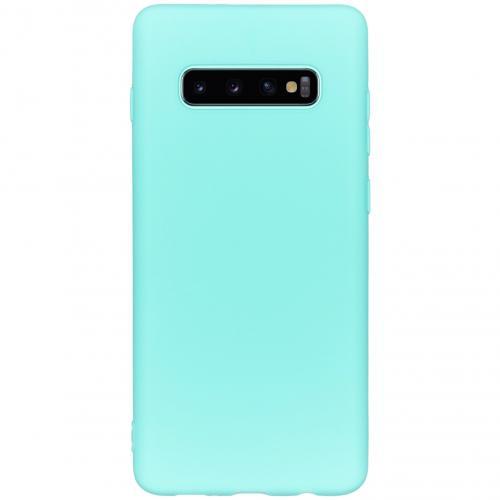 Color Backcover voor de Samsung Galaxy S10 Plus - Mintgroen