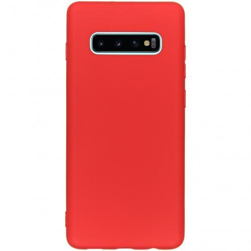 Color Backcover voor de Samsung Galaxy S10 Plus - Rood