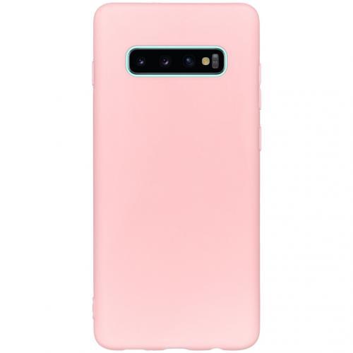 Color Backcover voor de Samsung Galaxy S10 Plus - Roze