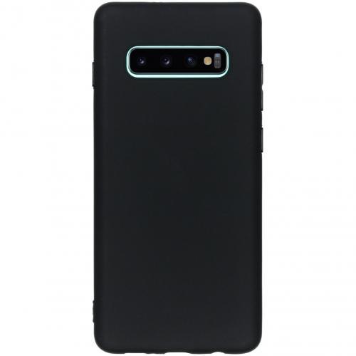 Color Backcover voor de Samsung Galaxy S10 Plus - Zwart