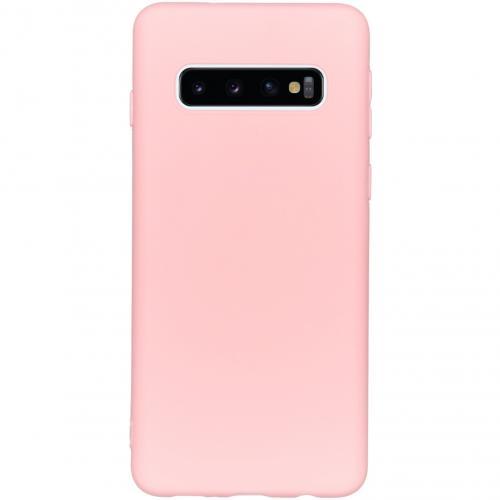 Color Backcover voor de Samsung Galaxy S10 - Roze