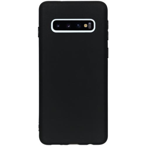 Color Backcover voor de Samsung Galaxy S10 - Zwart