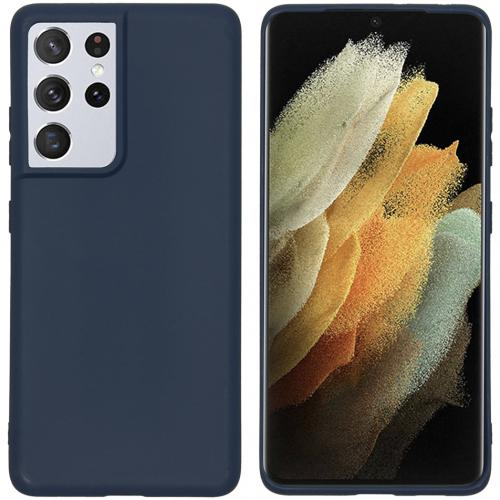 Color Backcover voor de Samsung Galaxy S21 Ultra - Donkerblauw