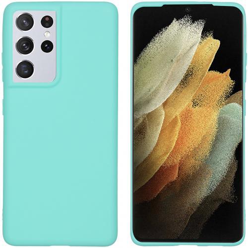 Color Backcover voor de Samsung Galaxy S21 Ultra - Mintgroen