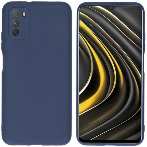 Color Backcover voor de Xiaomi Poco M3 - Donkerblauw
