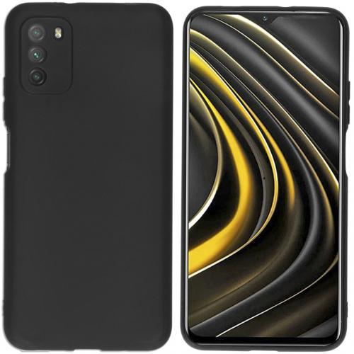 Color Backcover voor de Xiaomi Poco M3 - Zwart