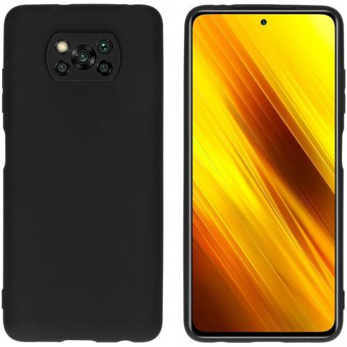 Color Backcover voor de Xiaomi Poco X3 - Zwart