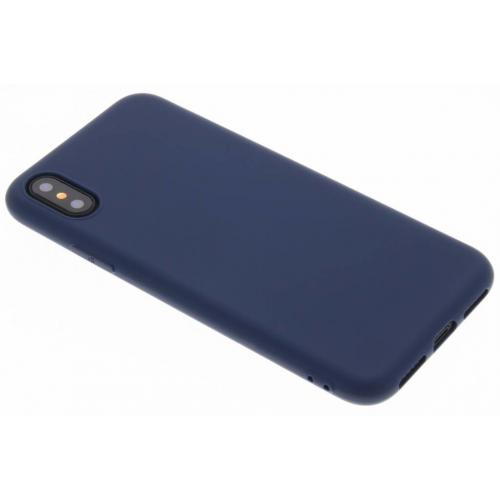 Color Backcover voor iPhone X / Xs - Donkerblauw