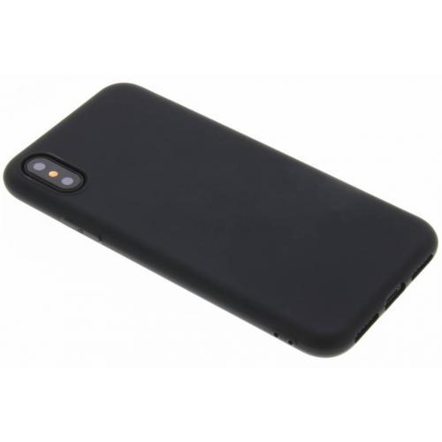 Color Backcover voor iPhone X / Xs - Zwart