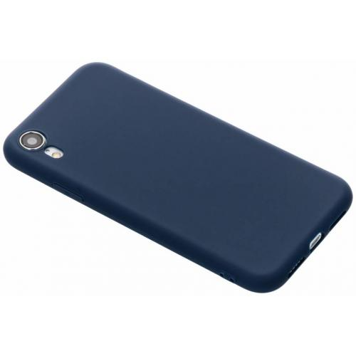 Color Backcover voor iPhone Xr - Donkerblauw