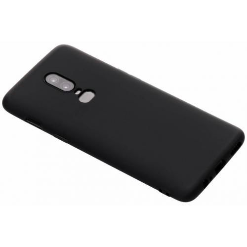 Color Backcover voor OnePlus 6 - Zwart