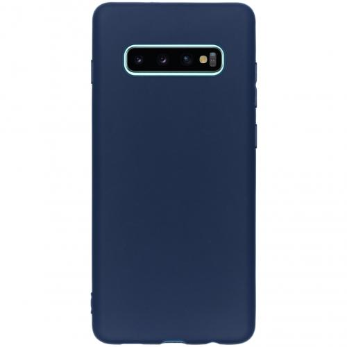 Color Backcover voor Samsung Galaxy S10 Plus - Donkerblauw