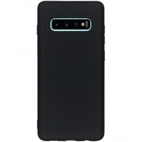 Color Backcover voor Samsung Galaxy S10 Plus - Zwart