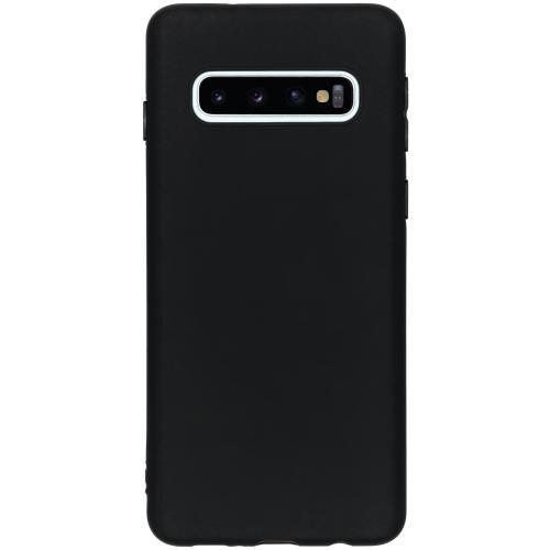 Color Backcover voor Samsung Galaxy S10 - Zwart