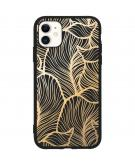 Design Backcover Color voor de iPhone 11 - Golden Leaves