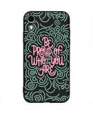 Design Backcover Color voor de iPhone Xr - Be Proud