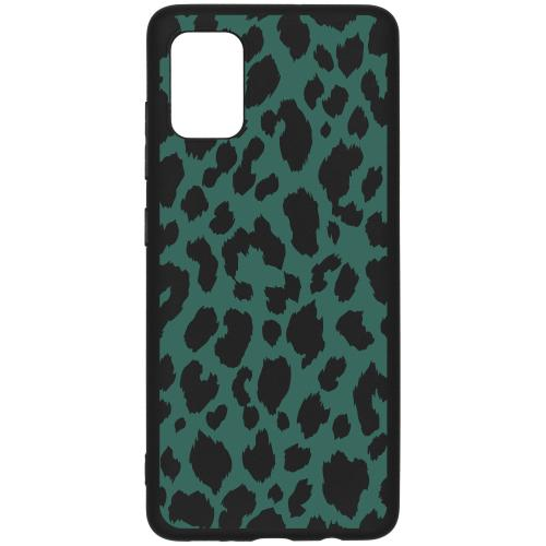 Design Backcover Color voor de Samsung Galaxy A51 - Panter Groen