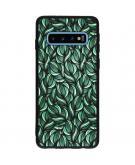 Design Backcover Color voor de Samsung Galaxy S10 - Green Botanic