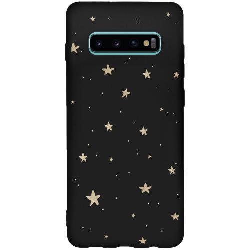 Design Backcover Color voor de Samsung Galaxy S10 Plus - Gouden Sterren