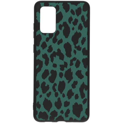 Design Backcover Color voor de Samsung Galaxy S20 Plus - Panter Groen
