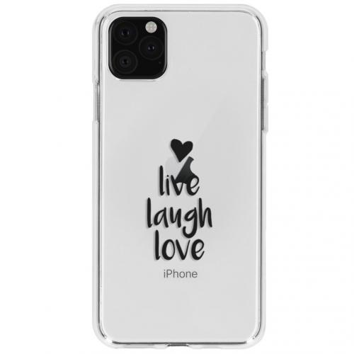 Design Backcover voor de iPhone 11 Pro - Live Laugh Love