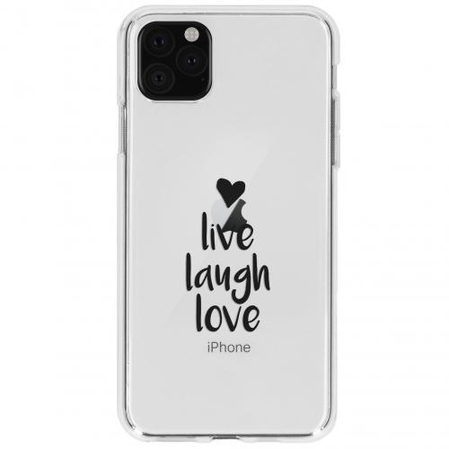Design Backcover voor de iPhone 11 Pro Max - Live Laugh Love