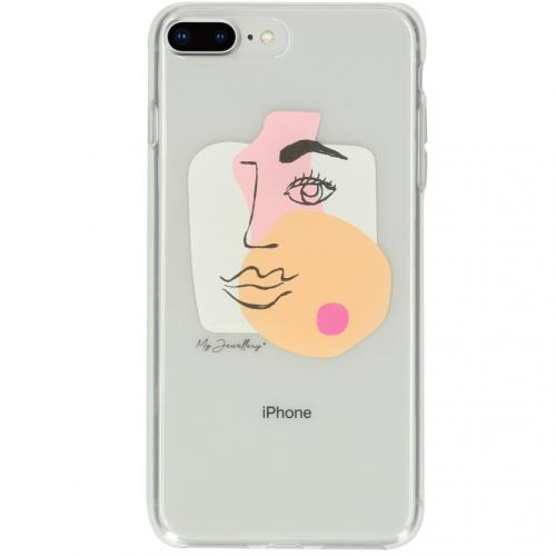 Design Backcover voor de iPhone 8 Plus / 7 Plus - Face Transparent