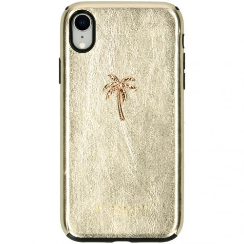 Design Backcover voor de iPhone Xr - Palmtree Gold