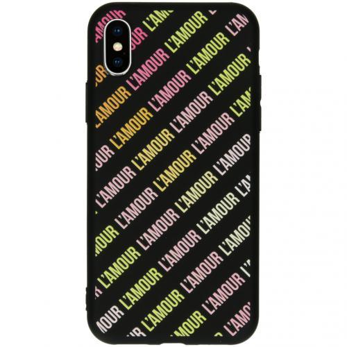 Design Backcover voor de iPhone Xs / X - L'amour Black