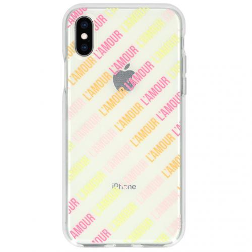 Design Backcover voor de iPhone Xs / X - L'amour Transparent