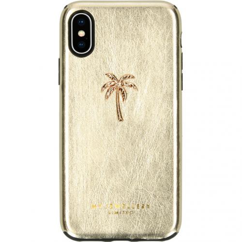 Design Backcover voor de iPhone Xs / X - Palmtree Gold