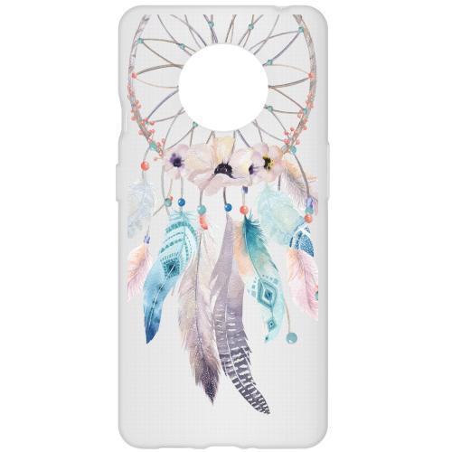 Design Backcover voor de OnePlus 7T - Dromenvanger Feathers