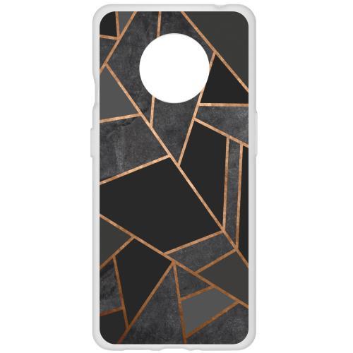 Design Backcover voor de OnePlus 7T - Grafisch Zwart / Koper