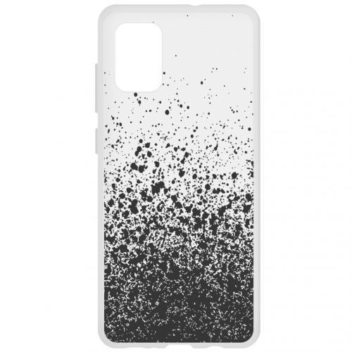 Design Backcover voor de Samsung Galaxy A71 - Splatter Black