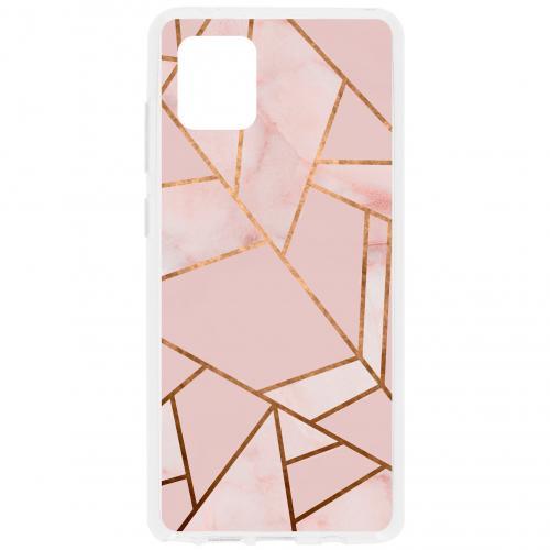 Design Backcover voor de Samsung Galaxy Note 10 Lite - Grafisch Roze / Koper