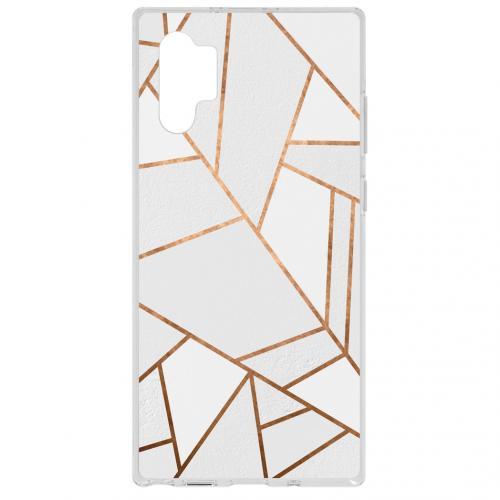 Design Backcover voor de Samsung Galaxy Note 10 Plus - Grafisch Wit / Koper