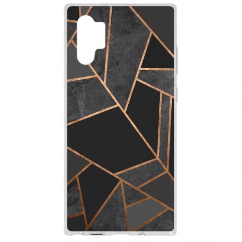 Design Backcover voor de Samsung Galaxy Note 10 Plus - Grafisch Zwart / Koper