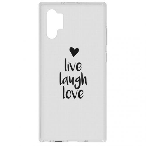 Design Backcover voor de Samsung Galaxy Note 10 Plus - Live Laugh Love