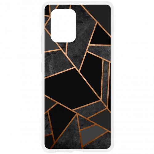 Design Backcover voor de Samsung Galaxy S10 Lite - Grafisch Zwart / Koper