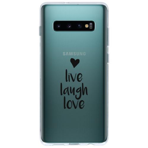 Design Backcover voor de Samsung Galaxy S10 Plus - Live Laugh Love