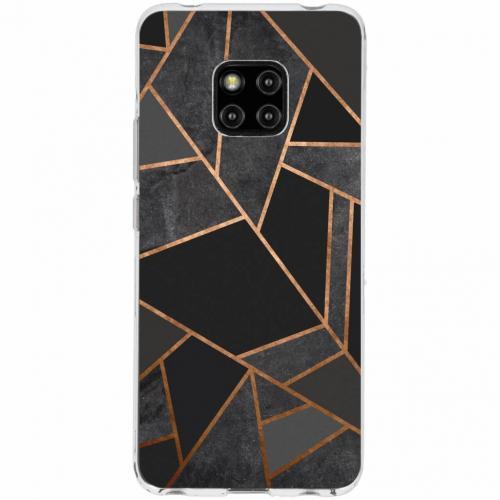 Design Backcover voor Huawei Mate 20 Pro - Grafisch Zwart / Koper
