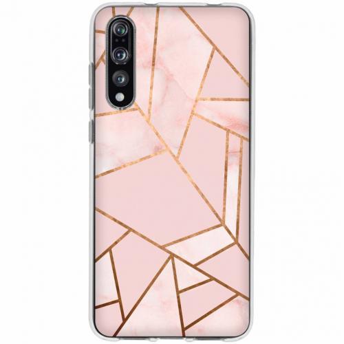 Design Backcover voor Huawei P20 Pro - Grafisch Roze / Koper