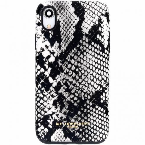 Design Backcover voor iPhone Xr - Snake Black