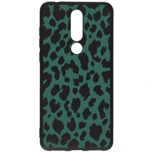 Design Backcover voor Nokia 3.1 Plus - Panter Groen