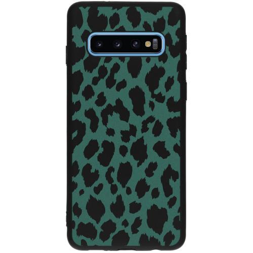 Design Backcover voor Samsung Galaxy S10 - Panter Groen