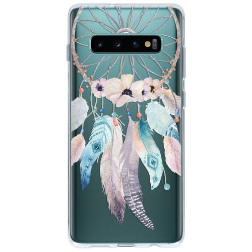 Design Backcover voor Samsung Galaxy S10 Plus - Dromenvanger Feathers