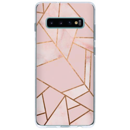 Design Backcover voor Samsung Galaxy S10 Plus - Grafisch Roze / Koper