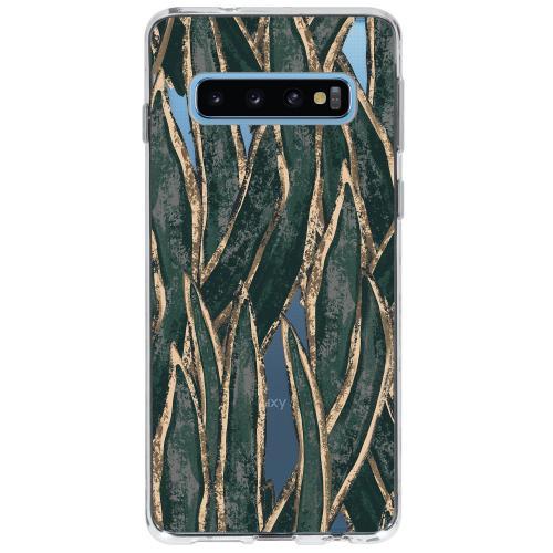 Design Backcover voor Samsung Galaxy S10 - Wild Bladeren
