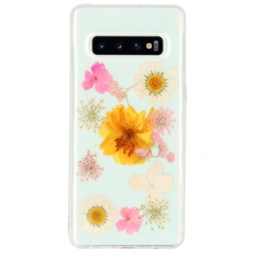 Design Hardcase Backcover voor de Samsung Galaxy S10 - Dried Flower
